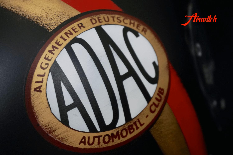 """Logo des """"Allgemeiner Deutscher Automobil Club"""" im Used Look für Cafe Racer Helm"""