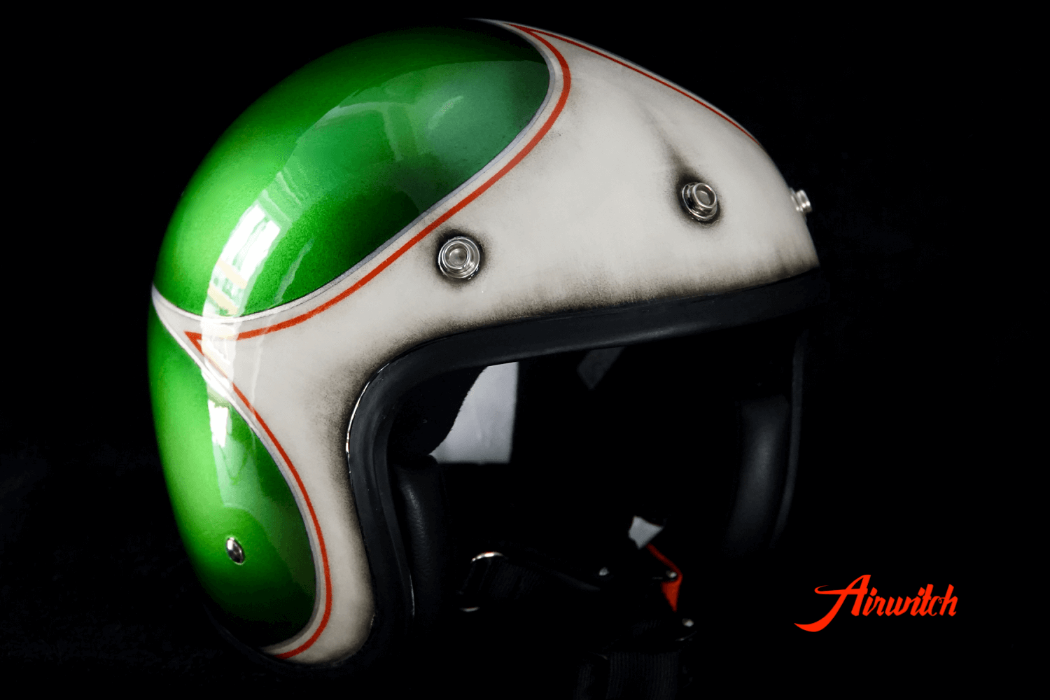 Used Look Custom Painting Helm Bierflasche und Bieretikett