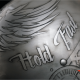 Custom Painting Helm mit Skulls, Wings und Used Look in silber-anthrazit