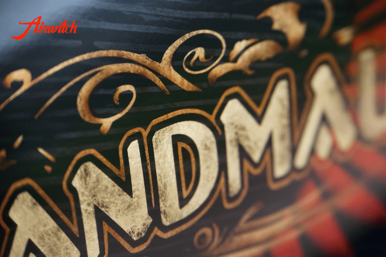 Harley Davidson Sportster 48 Tank Goldleaf Black Wood Holz Custom Paint Airbrush Schandmaul