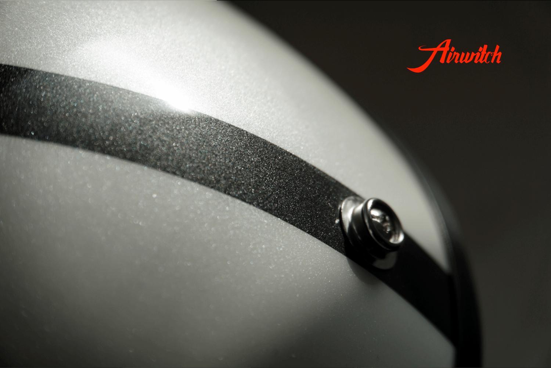 Custom Paint Helm mit Pearl und Totenkopf Airbrush