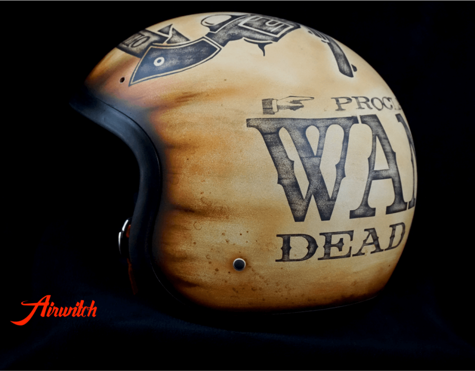 WANTED - DEAD OR ALIVE: Custom Painting Helm für Bad Boys