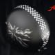 Airbrush Shoi Jethelm Cafe Racer schwarz mit Flagge, Gabelschlüssel, Triumph Logo und Zielflagge