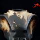 Airbrush Rost Rat Look Honda CB1000R Tank Custom Paint mit Used Look in braun