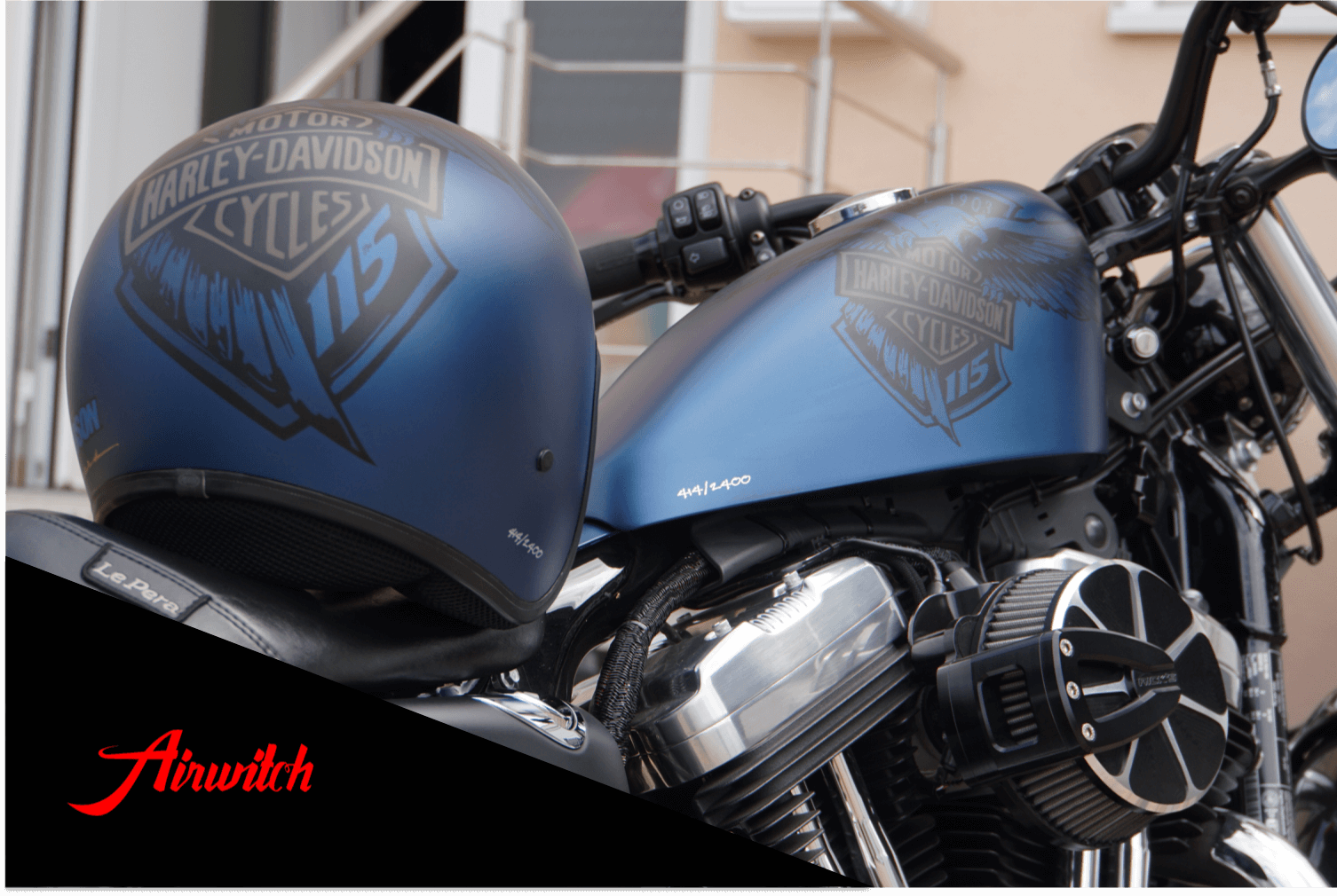 Sportster Forty Eight eagle 115 anniversary Harley Davidson blue - Originallackierung
