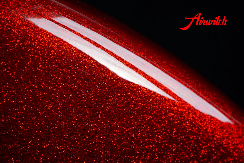 Metalflake Glitzer Lackierung Custom Paint Harley Davidson Glitter rot metal flake