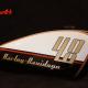 Custom Paint Harley Davidson Forty Eight Retro 60th Lackierung mit Metalflakes, Gold, Rot und Schwarz