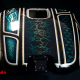 Custom Paint Harley Davidson Softail Metalflake Lackierung frisco oldschool pattern blue turquoise gold black