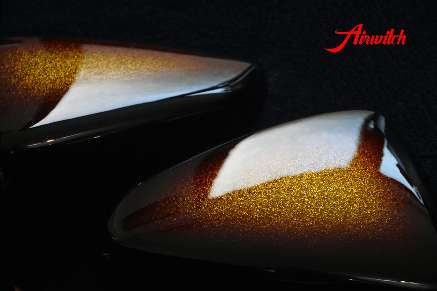 Custom Paint Candy Suzuki Savage Fender Tank Metalflake Lackierung Candy gold brown oldschool chopper