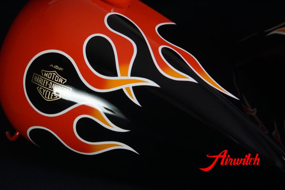 Custom Paint Flammen Lackierung Harley-Davidson Wide Glide FXWG 1980 Fireball original