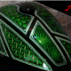 Custom Paint Harley-Davidson Panhead Metalflakes Lackierung Frisco Silver Green Airwitch